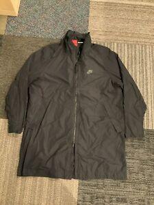 Nike Mens XL Black Franchise Jacket 886251-010 Black Nylon Coat