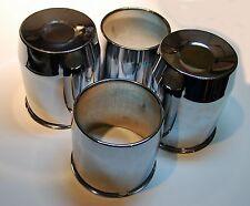 4 Cap Deal 8 Lug 5 1/8 Dia 6.33 Tall Chrome Push Thru Wheel Center (2) O (2) C