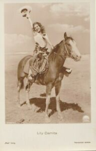 Lily Damita Horse Western Cowgirl Original 1930s Vintage Photo Postcard Ross