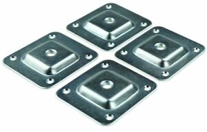 Set Of 4 Leg Fixing Mounting Plates Brackets Level Plates With M8 Metal Wood