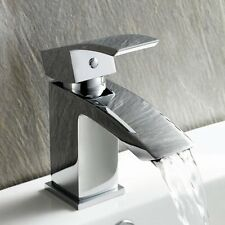 Curved Basin Sink Mixer Tap Chrome Bathroom Monobloc Cloakroom Faucet (BK010)