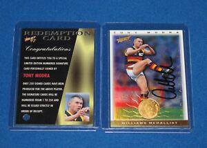1997 Select AFL Ultimate Series Signature Redemption Card SC9 Tony Modra MINT