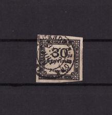 timbre France TAXE  carré  30c noir   num: 6   oblitéré tb