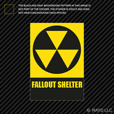 Fallout Shelter Sticker Decal Self Adhesive Vinyl warning nuclear danger