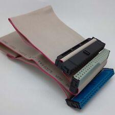 "3.5"" IDE ATA 40 Pin Hard Drive Ribbon Cable Dual Device c37_sx"