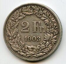 Switzerland 2 Francs Silver 1903 B Km 25