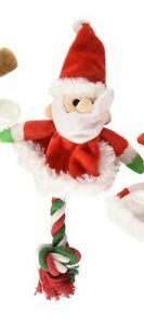 "SPOT ETHICAL CHRISTMAS HOLIDAY TREE SKIRT ROPE DOG 9"" TOY SANTA. USA"