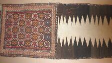Luristan (Lori) Saddle Bag/Rug (Khorjin) Geometric, Hand-Knotted,Hand-woven Antq