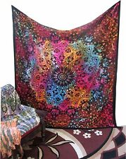Queen Indian Tie & Dye Star Mandala Tapestry Throw Hippie Wall Hanging Bedspread