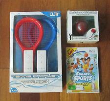 wii Tennis Racket Kookaburra Cricket Ball Summer Sports Party Nintendo Bundle