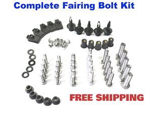 Complete Fairing Bolt Kit body screws for Honda CBR 600 F4i 2001 2002 Stainless