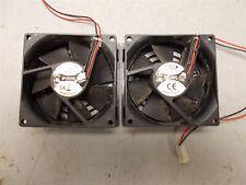 (2) Dynaeon Top Motor Df128025Sl Fan 12Vdc 0.17A 2Pin 80X80X25