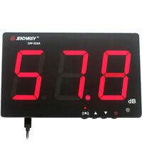 "3"" Wall Mount LCD Digital Sound Level Meter 30 ~ 130dB Decibel Noise Measurement"