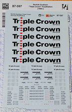 "Microscale Decal #87-597 Norfolk Southern ""Triple Crown"" RoadRailers(1990+)Decal"