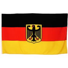 Fahne Deutschland mit Adler 90 x 150 cm deutsche Wappen Flagge Nationalflagge