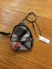 Vera Bradley Micro Backpack Charm Key Chain in Sofia Plaid with black, brand new