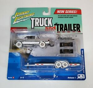 JOHNNY LIGHTNING TRUCK AND TRAILER WL 1996 DODGE RAM PICKUP WHITE 2017 MOSC RARE