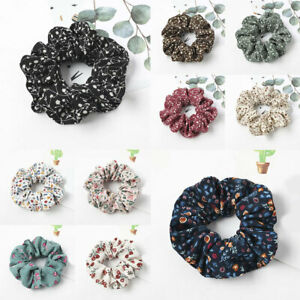 Fashion Colorful Flower Women Hair Ring Scrunchies Rubber Band Elastic Headwear