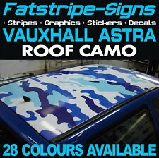VAUXHALL ASTRA CAMO ROOF GRAPHICS STICKERS STRIPES DECALS OPEL VXR MK5 MK6 MK7