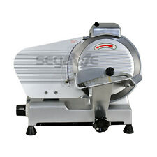 Used 10 Blade Meat Slicer Deli Cheese Food 530rpm Electric Cutter Kitchen