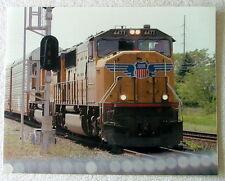 COLOR PHOTOGRAPH UNION PACIFIC RAILROAD TRAIN LOCOMOTIVE NO 4477  OHIO #q9h6