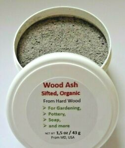 Wood Ash, Organic, From Hard Wood, Sifted, For Gardening / Pottery / Soap & more