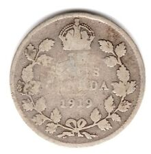 1919 3d Silver THREE PENCE threepence thrupence George V Canada (a)