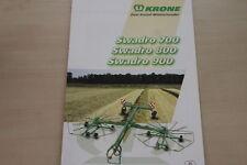 157377) Krone Kreiselschwader Swadro 700 800 900 Prospekt 10/2003
