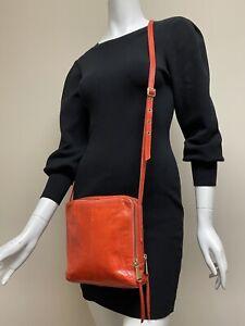 Hobo International Orange Leather Crossbody Bag