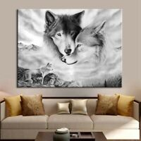 Poster  Home  Wolf Painting  Hand  Decor  Art  animal Hipster