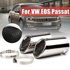CHROME EXHAUST TAIL REAR MUFFLER TIP PIPES FOR VW EOS PASSAT CC B6 ESTATE