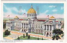 AK Post Card US USA State Capitol Harrisburg gelaufen 1936 Zürich