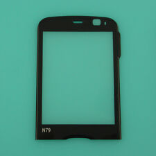 Black Front LCD Screen Lens Glass Cover Window Panel Replacement For Nokia N79