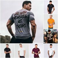 Cotton Crossfit Quick Dry Men T Shirt Short Sleeve Fitness Gym Training Shirt