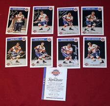 Zellers Masters of Hockey Signed 8 Card Set Bobby Hull Worsley Ratelle Cournoyer