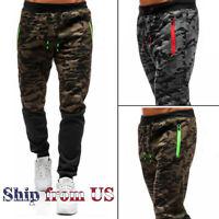 Men's Casual Joggers Pants Sweatpants Cargo Combat Active Sports Camo Trousers