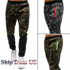 Men's Casual Joggers Pants Sweatpants Cargo Combat Active Sports Camo Trousers