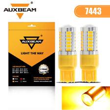 AUXBEAM 7443 7440 LED Amber Yellow Turn Signal Parking DRL High Power Light Bulb