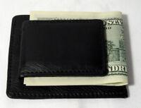 New Mens Genuine Leather Thin Money Clip Slim Wallet Money Credit Card ID Holder
