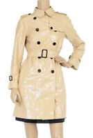 3.1 PHILLIP LIM BEIGE PATENT TRENCH COAT, 4, $495