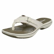 9f4030f9e14284 Clarks Brinkley Sea - White Synthetic (textile) Womens Sandals 6 UK