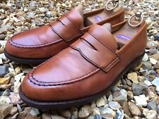 Crockett & Jones Tan Calf Leather Loafers. UK 7.5.