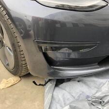 Carbon Fiber style Front bumper defend Fog Light Cover trims for Tesla Model 3