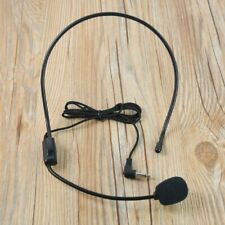 Wired Headset Microphone for Voice Amplifier Speaker Black Hand Microphone