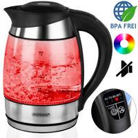 monzana® 1,8L Edelstahl Wasserkocher Temperaturwahl Teekocher Warmhaltefunktion