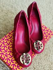 Tory Burch  Logo Medallion Wedge Shoes Size 8