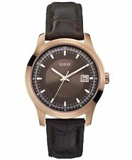 Guess Mens Watch RRP £155 - Rose Gold Brown - Special Price - Stunning - W0250G2
