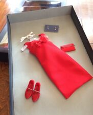 Princess Diana High Fashion Red Dress with Bow, red shoes.jewelry,purse w/ box