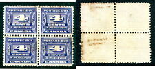 Used Canada Postage Due Block of 4 (Lot #12622)