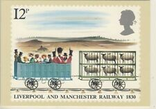 C 054 BRITISH PHQ POSTCARD LIVERPOOL AND MANCHESTER RAILWAY
